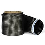 Braided Carbon Fiber Biaxial Sleeves - 1-1/2, 8.3 oz/sq yd, 3K, .013 thick - Cut to length by yard