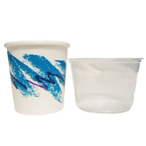1 Pint Paper & Plastic Mixing Tubs