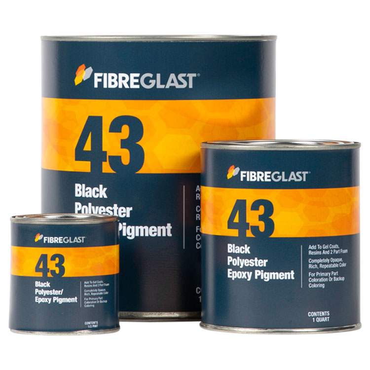 Black Polyester/Epoxy Pigment for tinting resin | Fibre Glast