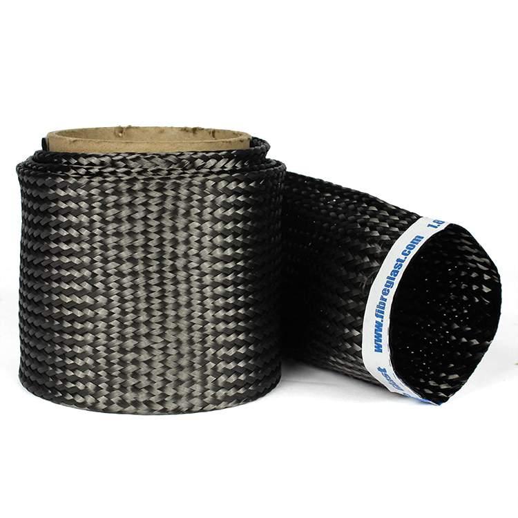 "50 Yards of Carbon Fiber Braided Sleeve 1.25/"" diameter +// 45 deg"