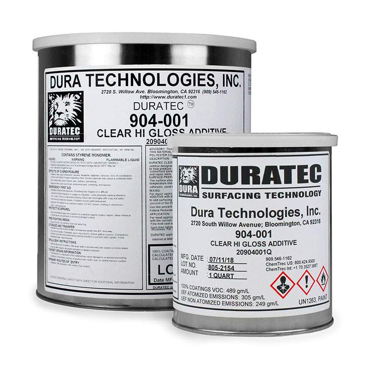 Product Duratec® Clear Hi-Gloss Gel Coat Additive