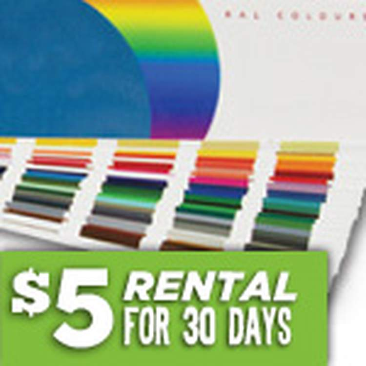 RAL Color Book for purchase or rent, stock sameday ship   Fibre Glast