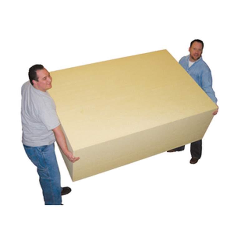 Six foot polyurethane foam blocks fibre glast