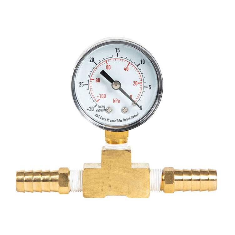 Product Vacuum Gauge with T-Fitting
